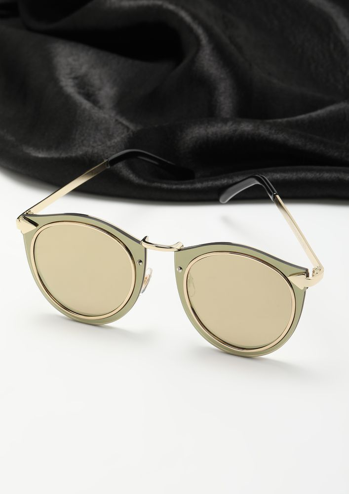 RAISE A BAR ROSE GOLD CATEYE SUNGLASSES