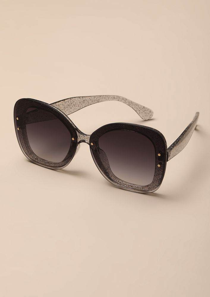 PATTERN-TED GREY RETRO SUNGLASSES