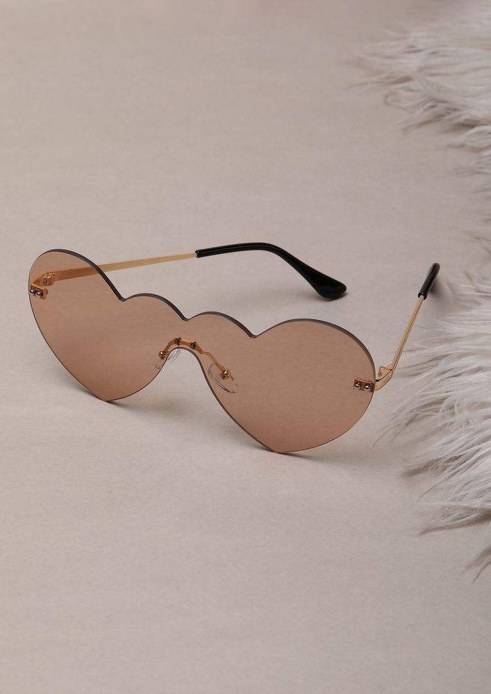 NEVER MISS A BEAT BROWN RETRO SUNGLASSES