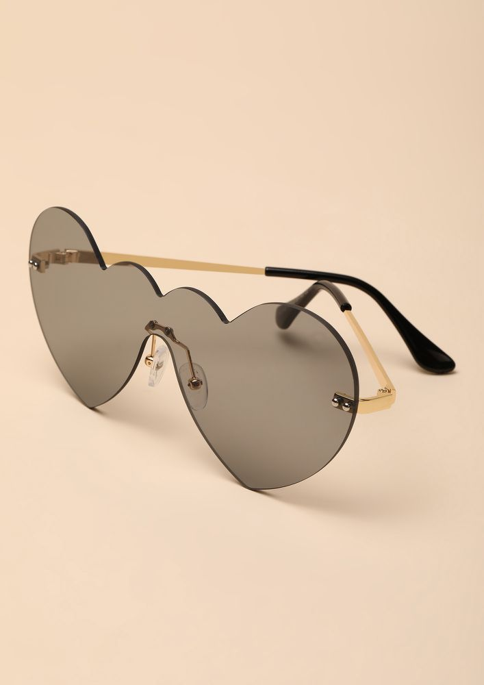 NEVER MISS A BEAT GREY RETRO SUNGLASSES