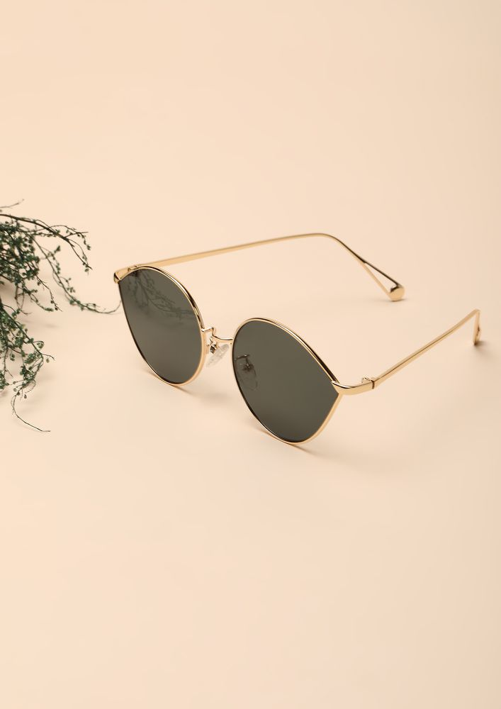 DROP IT GREEN RETRO SUNGLASSES