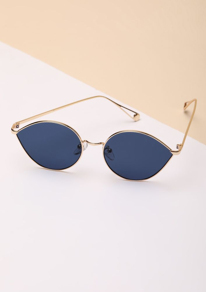 DROP IT BLUE RETRO SUNGLASSES