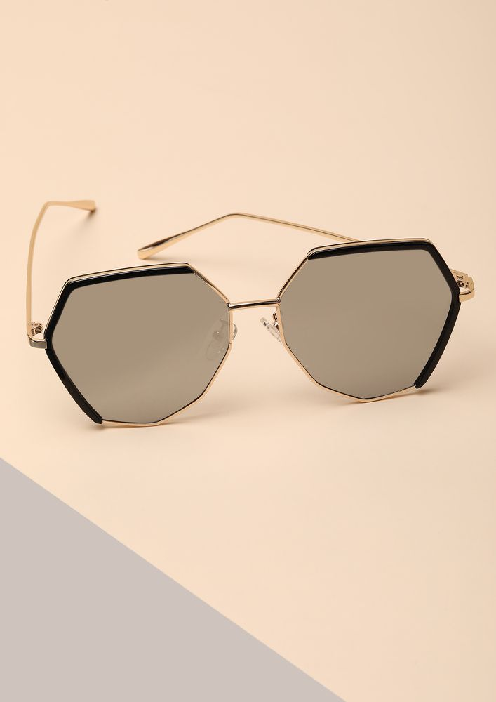 WING IT SILVER RETRO SUNGLASSES