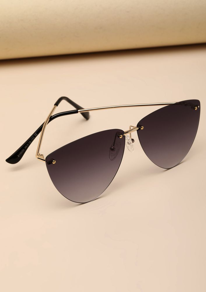 DEEP THOUGHTS GREY RETRO SUNGLASSES