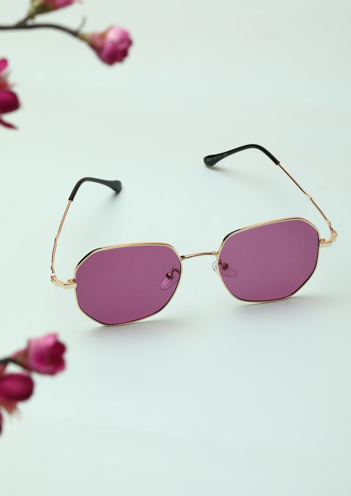 SAVAGE AND SASSY PURPLE RETRO SUNGLASSES