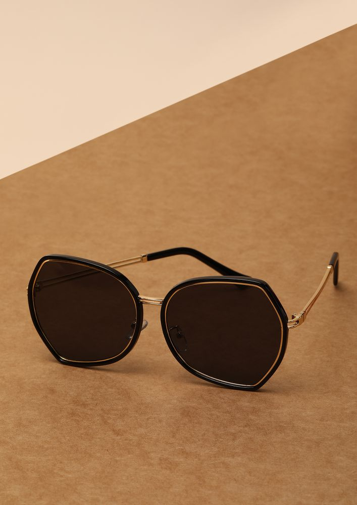 THE NOUVEAU FASHIONISTA BLACK RETRO SUNGLASSES