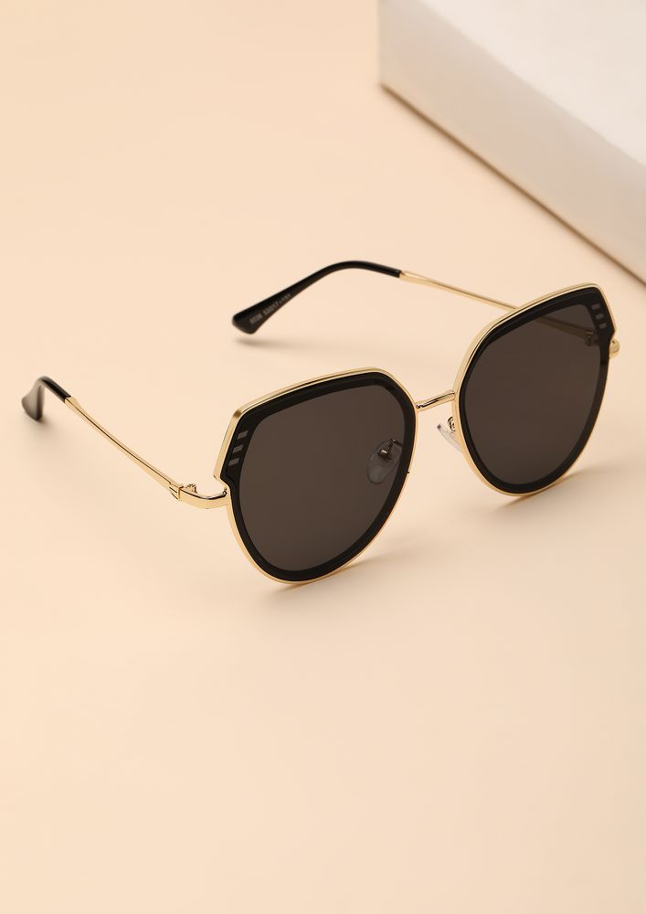 A SMOOTH TALKER BLACK TEARDROP AVIATORS