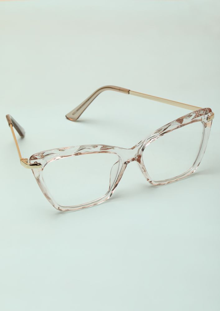 WAVES AFTER WAVES PINK CATEYE SUNGLASSES