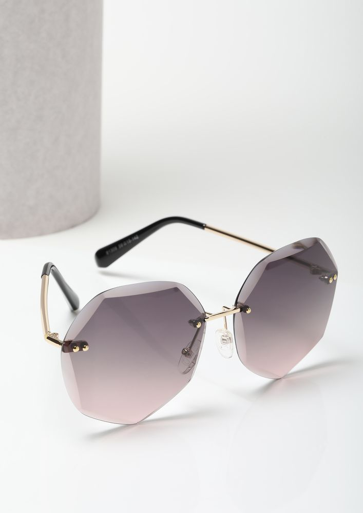 THE ULTIMATE RULE-BREAKER PURPLE RETRO SUNGLASSES