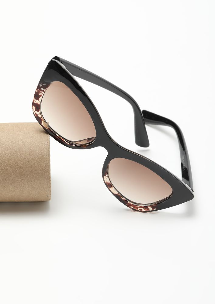 THE EVIL EYES AMBER BROWN CATEYE SUNGLASSES