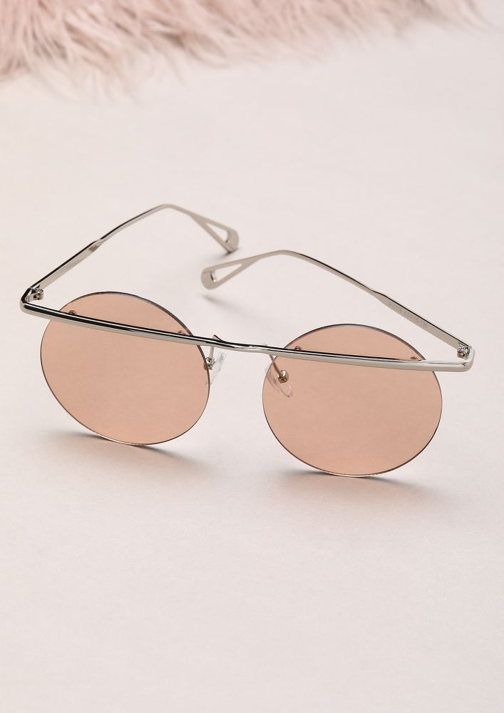 WHATTA COOL BABE PINK ROUND SUNGLASSES