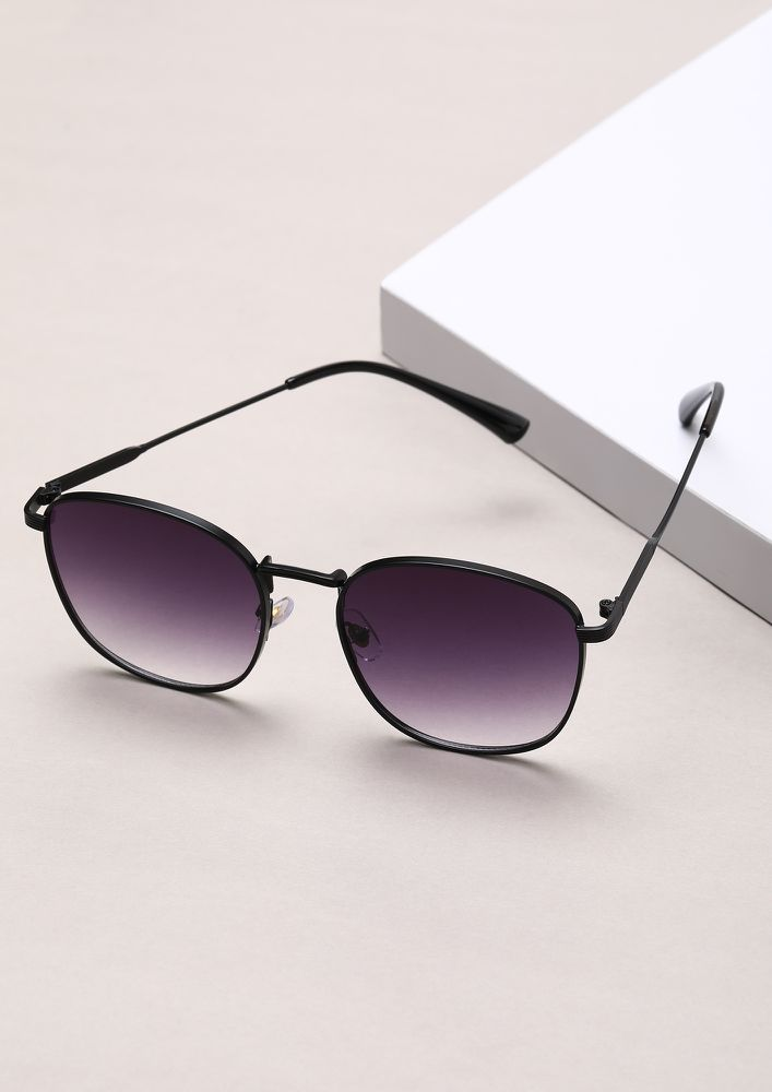SQUARE ONE PURPLE WAYFARER SUNGLASSES