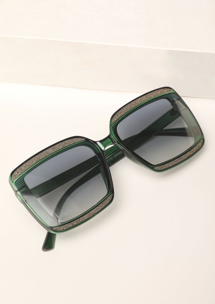 STOP STARE AND SHINE GREEN WAYFARERS