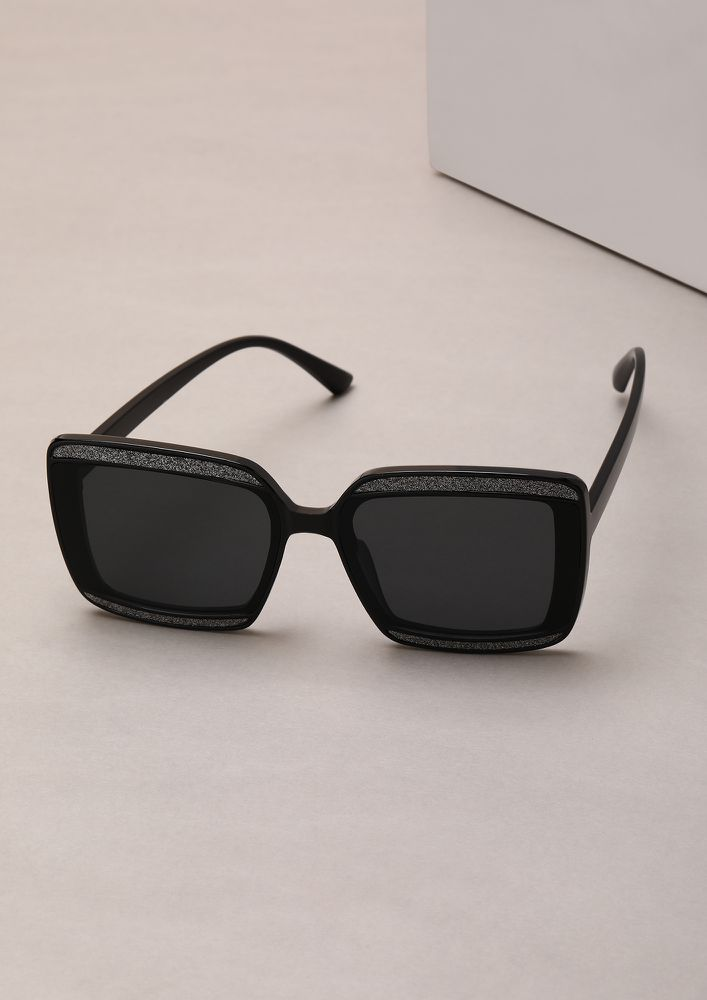 STOP STARE AND SHINE BLACK WAYFARERS
