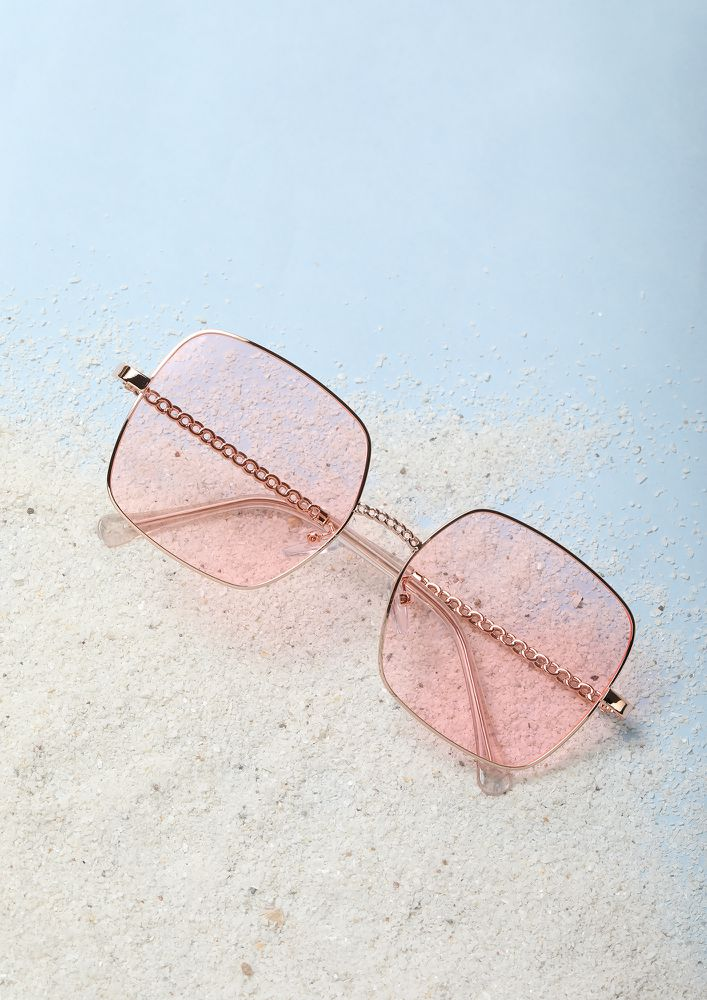 SOAK IN THE SUN PINK WAYFARERS