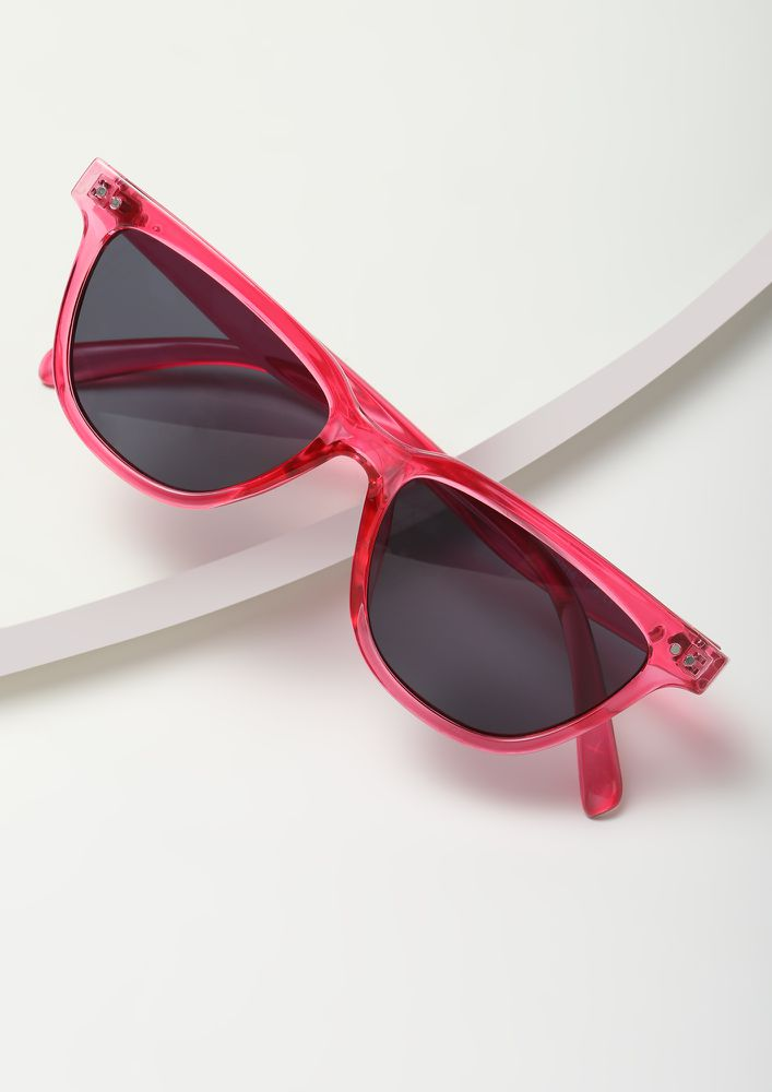 PAINT IT RED RED CATEYE SUNGLASSES