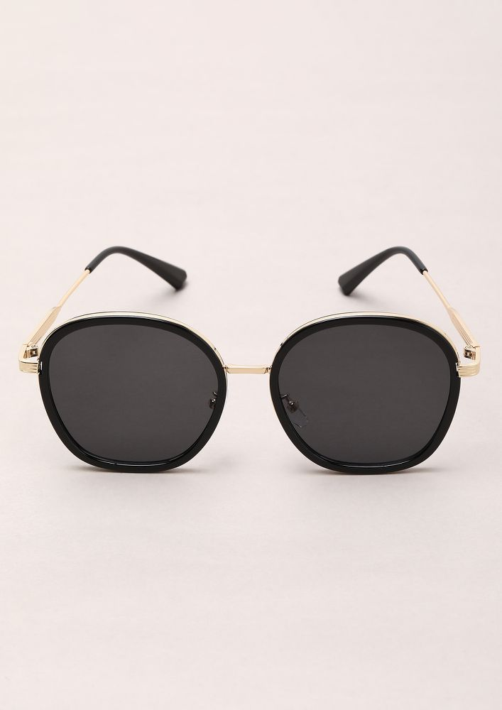 BACK TO OLD DAYS BLACK RETRO SUNGLASSES