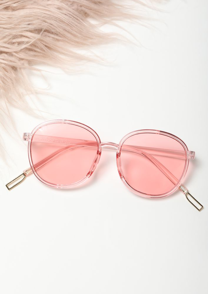 LIGHT IT UP PINK WAYFARERS