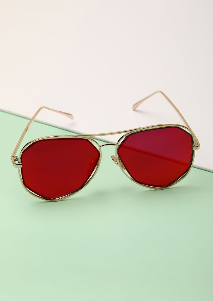 BRING IT ON RED RETRO SUNGLASSES