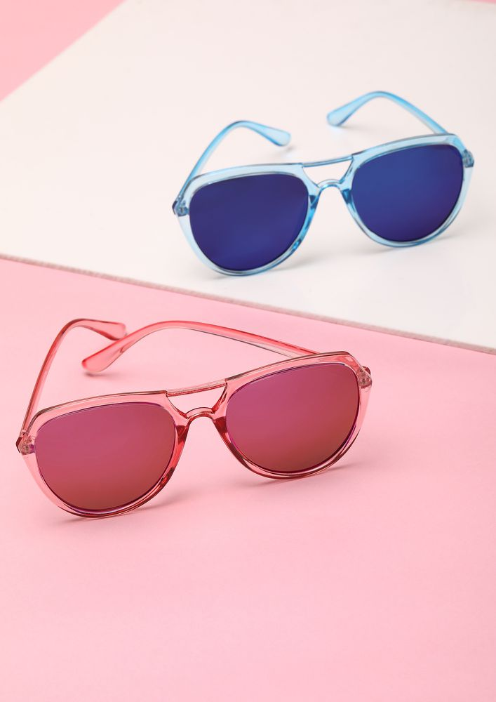 TURN IT UP PINK WAYFARERS