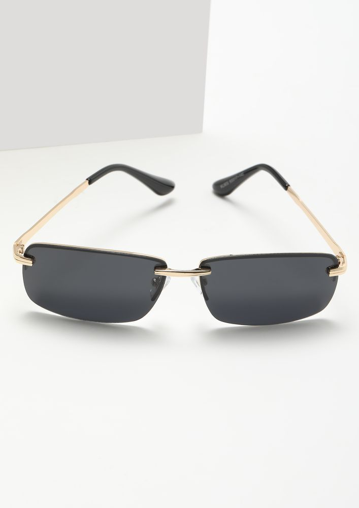 SNATCH IT GOLDEN SQUARE FRAME SUNGLASSES