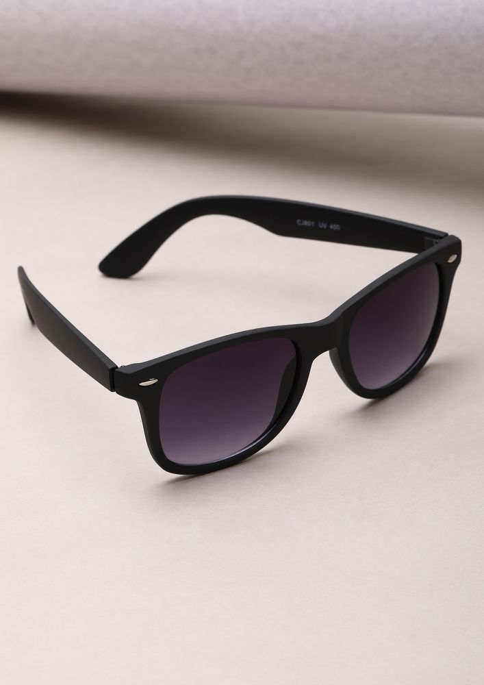 SAVAGE BLACK SQUARE FRAME SUNGLASSES