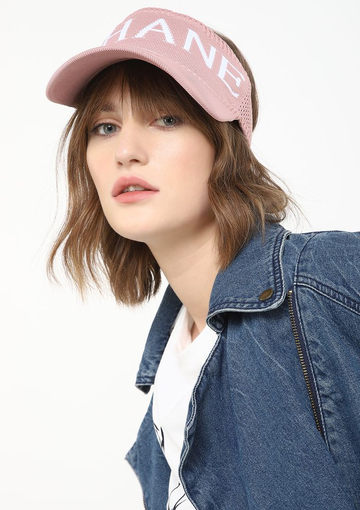 OUT IN THE SUN PINK VISOR CAP