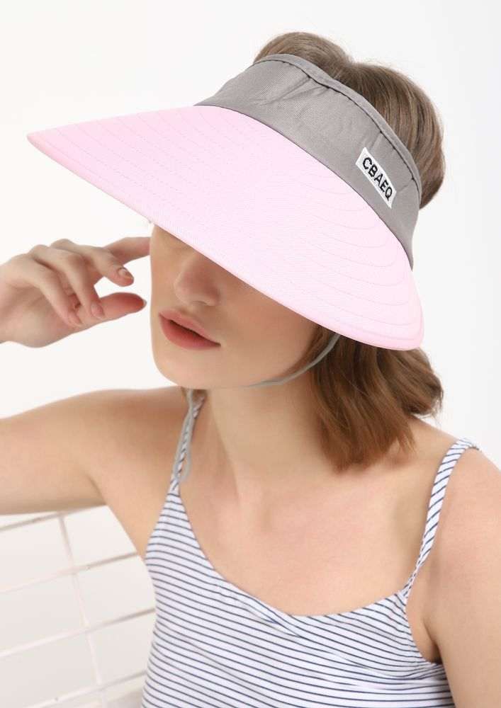 LETS GO FOR A RUN PINK VISOR CAP