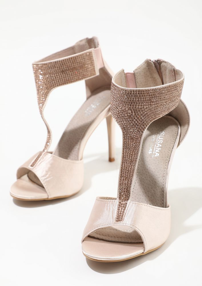 CLOSE THE DEAL IN HEELS PINK HEELED SANDALS