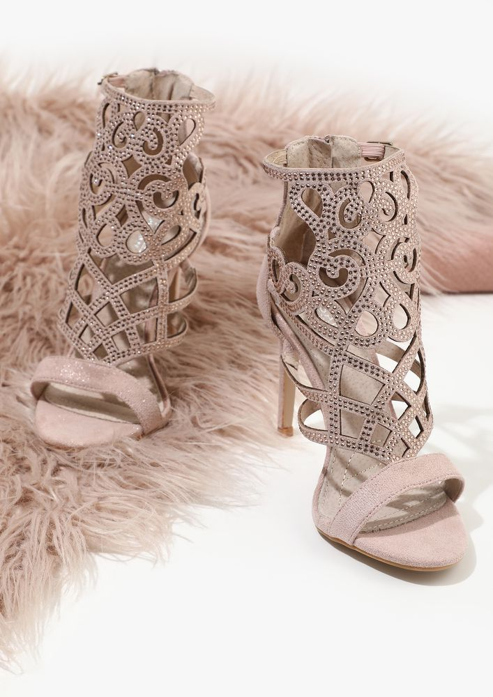 ATTENTION, IT'S MYSTERIOUS PINK HEELED SANDALS