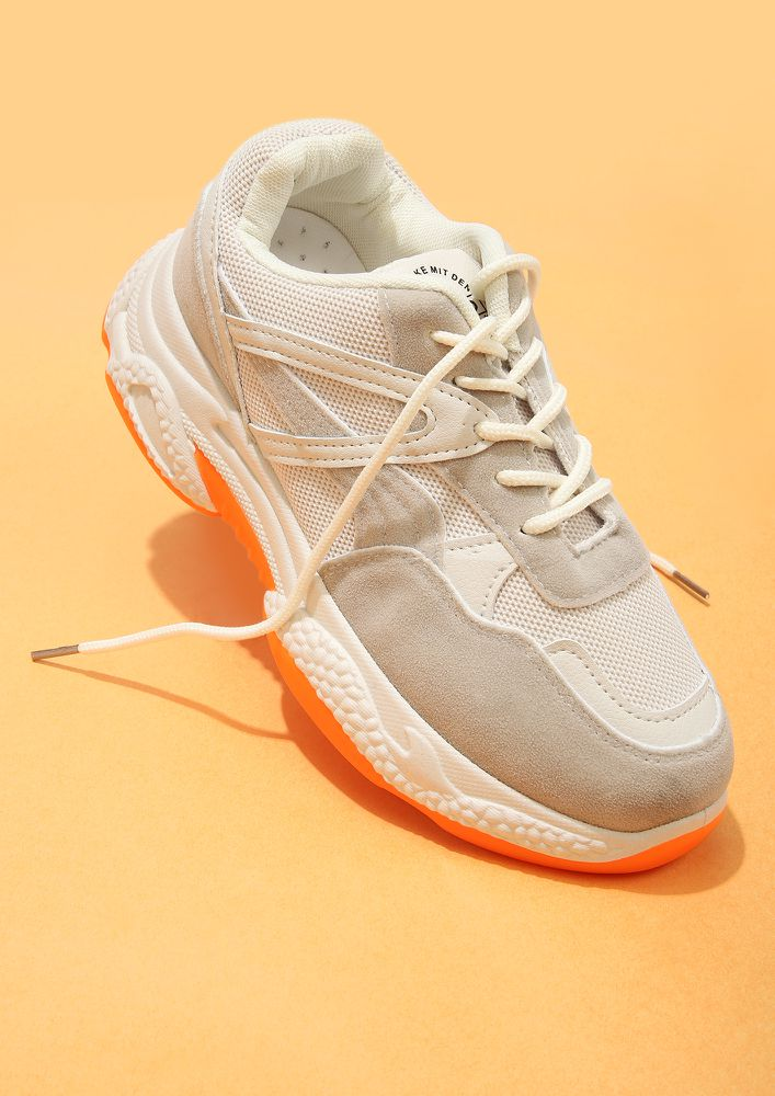 THE REAL GODSPEED GREY TRAINERS