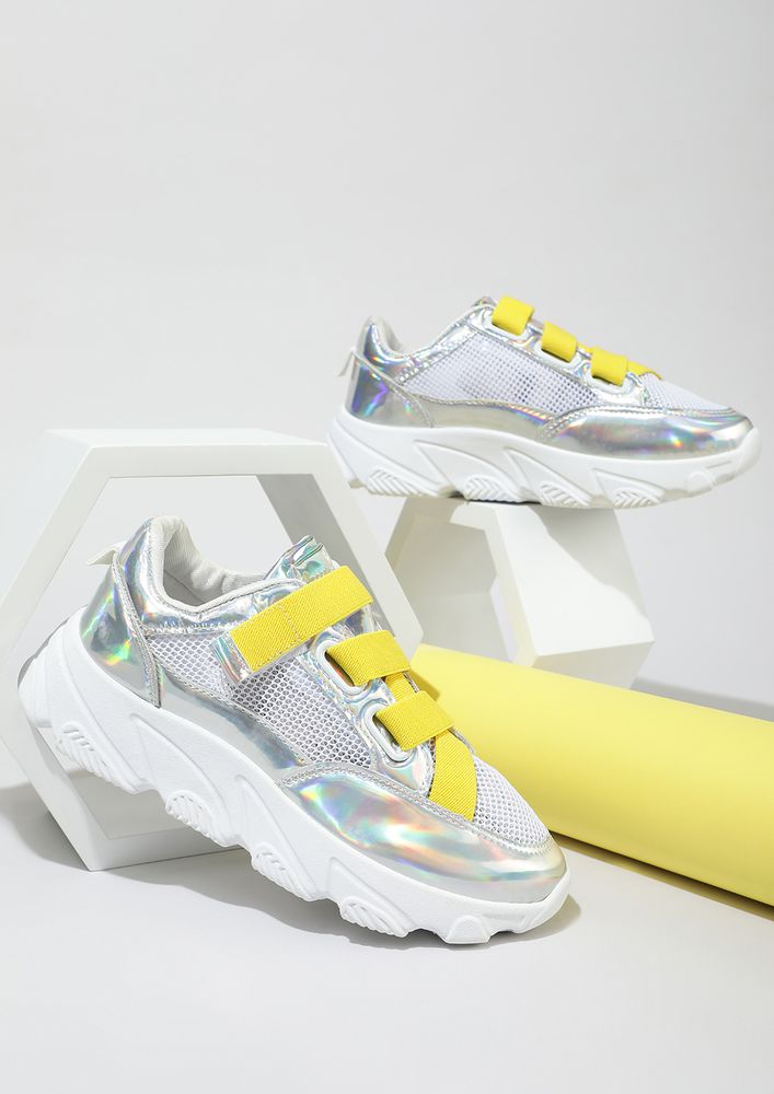 Obsession Sneaks In Yellow Strap Trainers