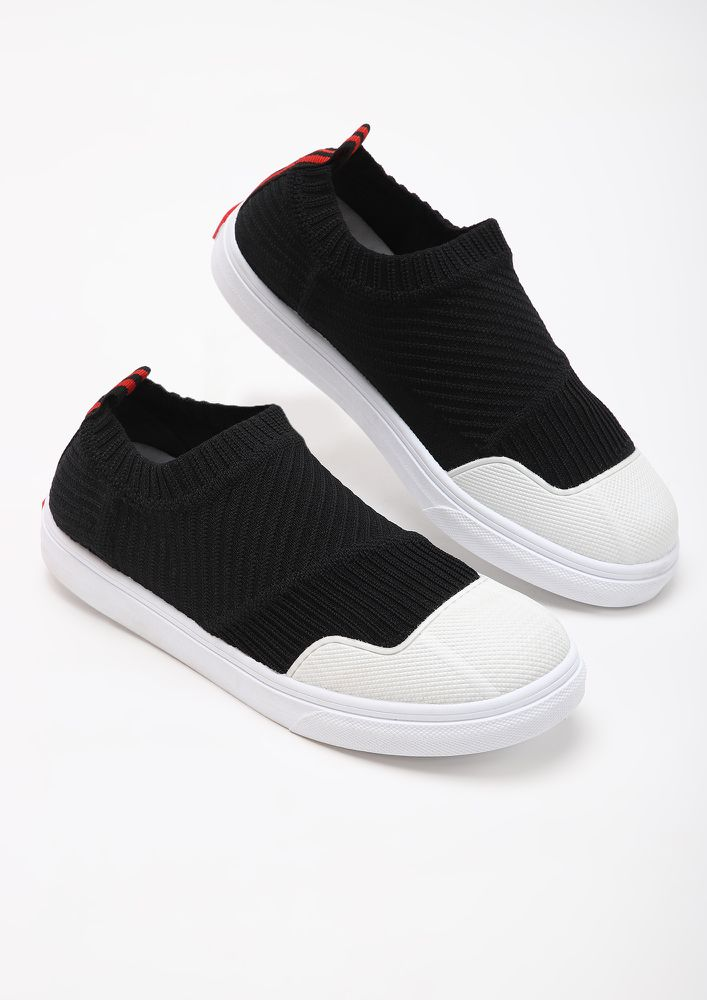COMFY FEET BLACK CASUAL SHOES