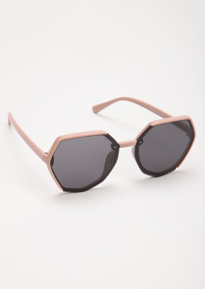 BEAST MODE PINK RETRO SUNGLASSES