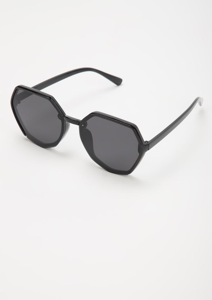 BEAST MODE BLACK RETRO SUNGLASSES
