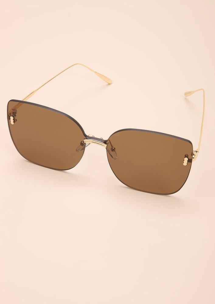 EYE-CONIC TEA CATEYE SUNGLASSES