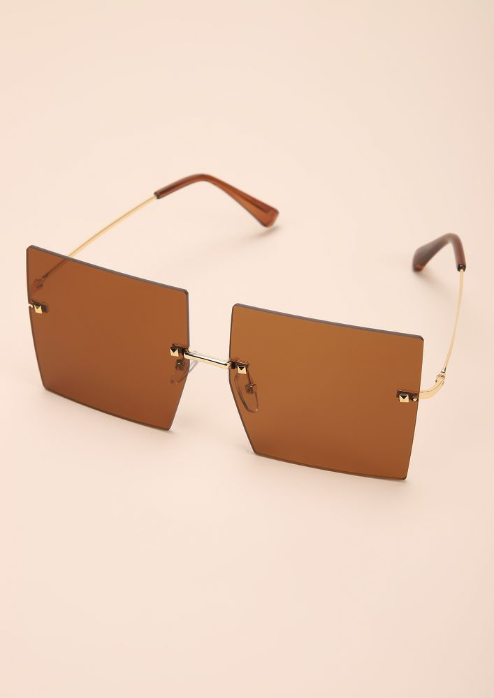 CLEAN CUTS TEA SQUARE FRAME SUNGLASSES