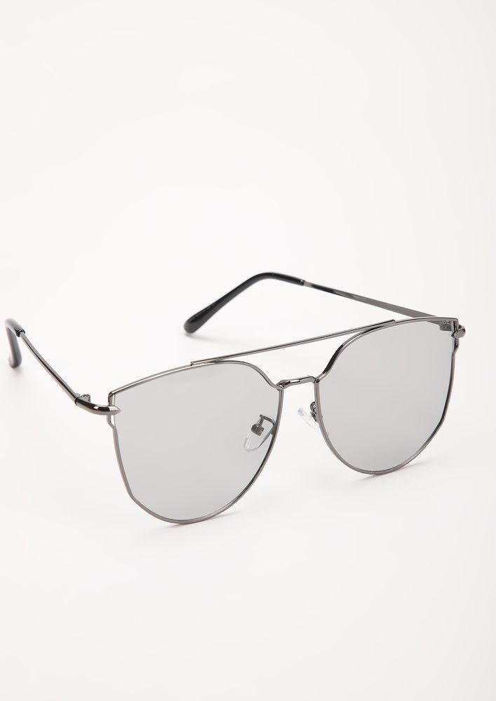 CANT PLAY 'EM ALL GREY CATEYE SUNGLASSES