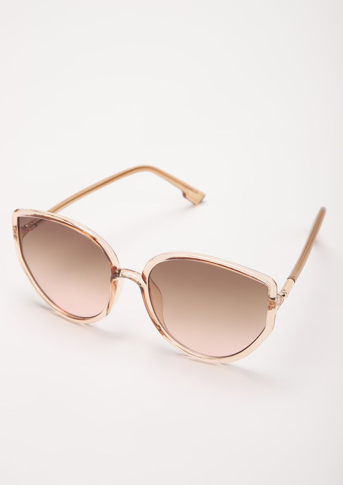 SO PURREAL TEA CATEYE SUNGLASSES