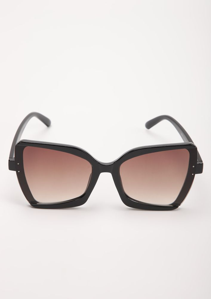 WILDFIRE TEA SQUARE FRAME SUNGLASSES