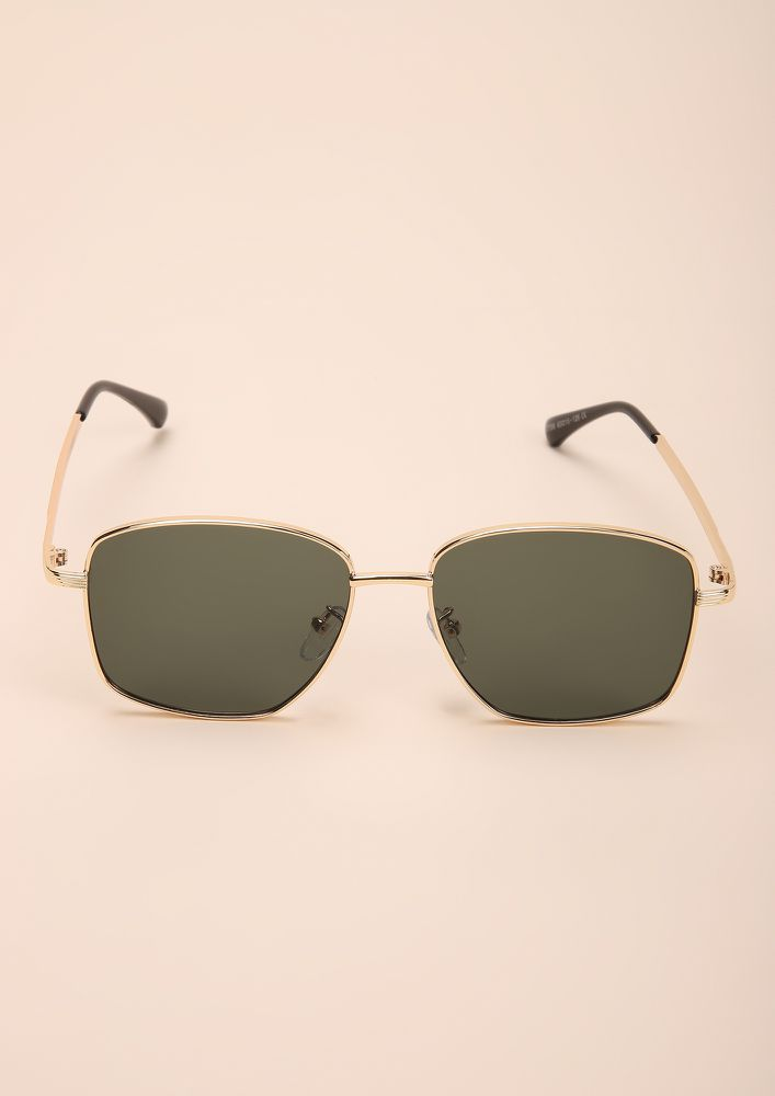 CANT GET ENOUGH BLACK SQUARE FRAME SUNGLASSES