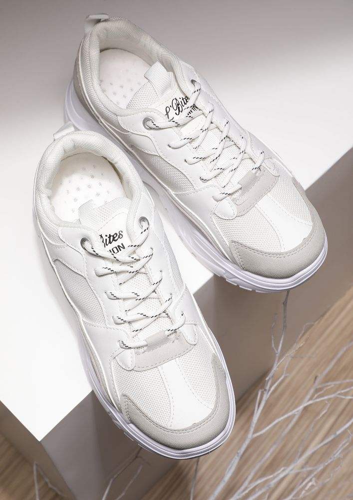 MAKE A BREAK FOR IT WHITE TRAINERS