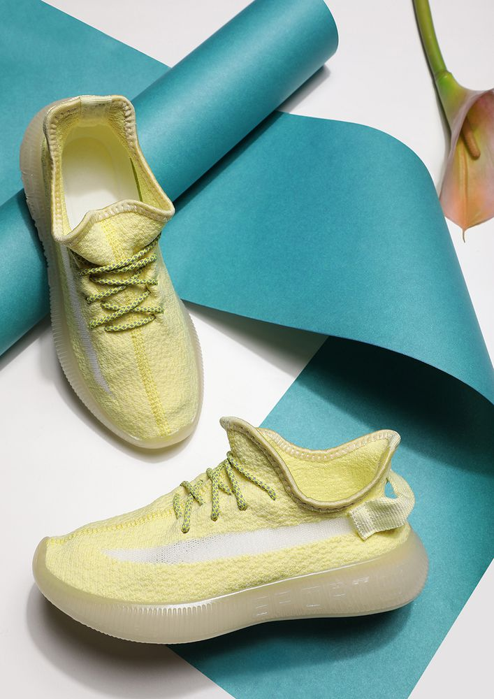 MINIMALISTIC STYLE YELLOW TRAINERS