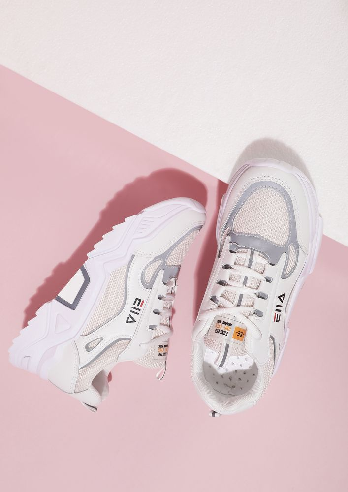 CHUNK IT UP PINK TRAINERS