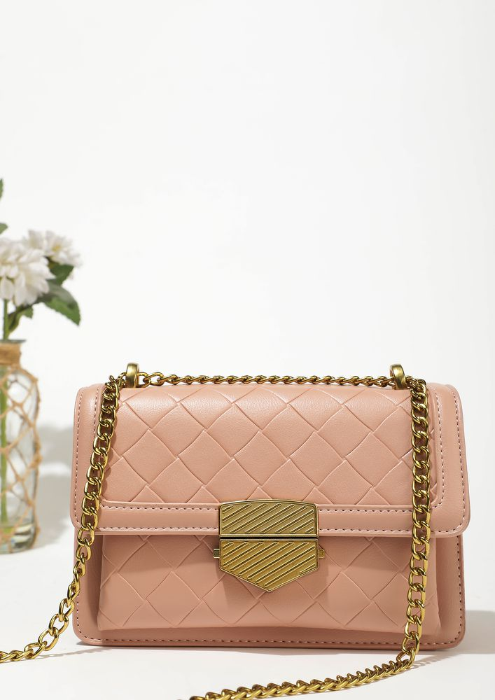 QUILT THAT ATTITUDE PINK SLING BAG