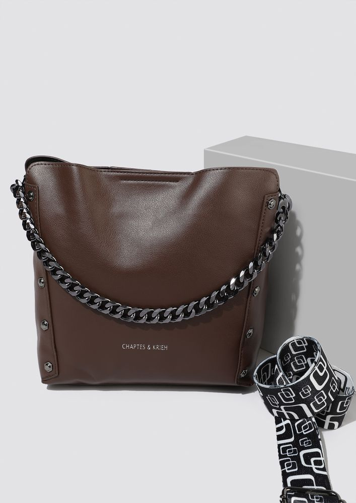 CARRY AS YOU LIKE IT BROWN BUCKET BAG