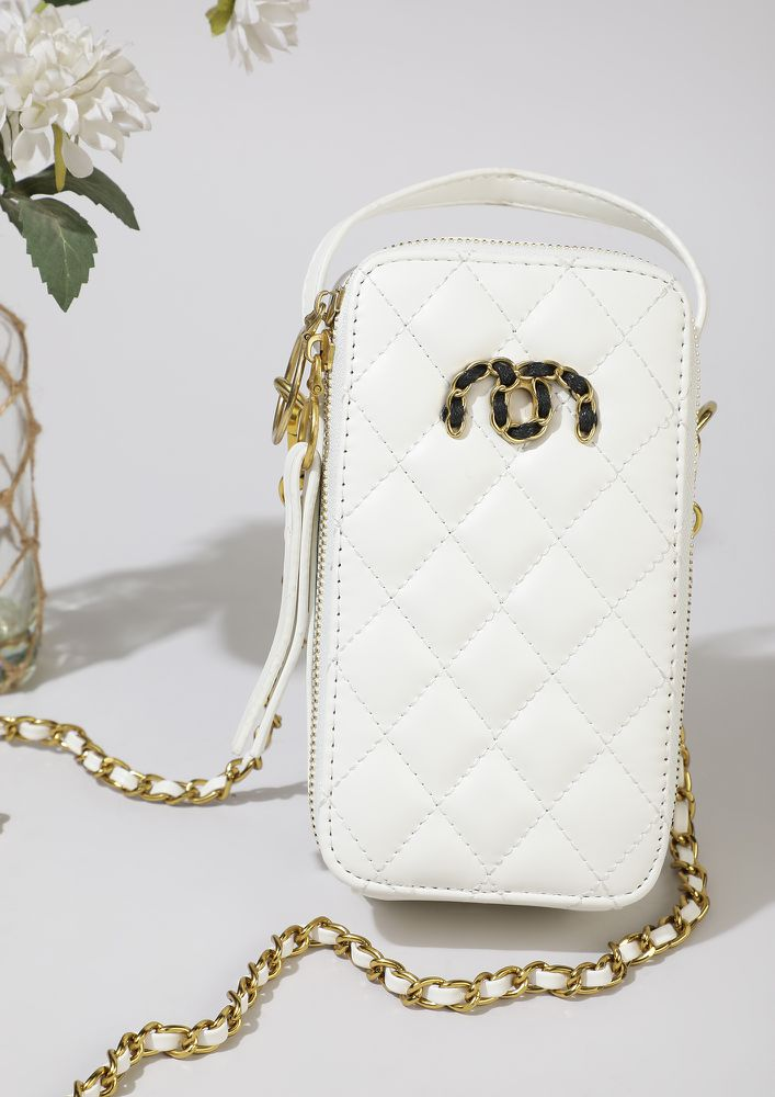 CAN'T TAKE MY EYES OFF WHITE SLING BAG