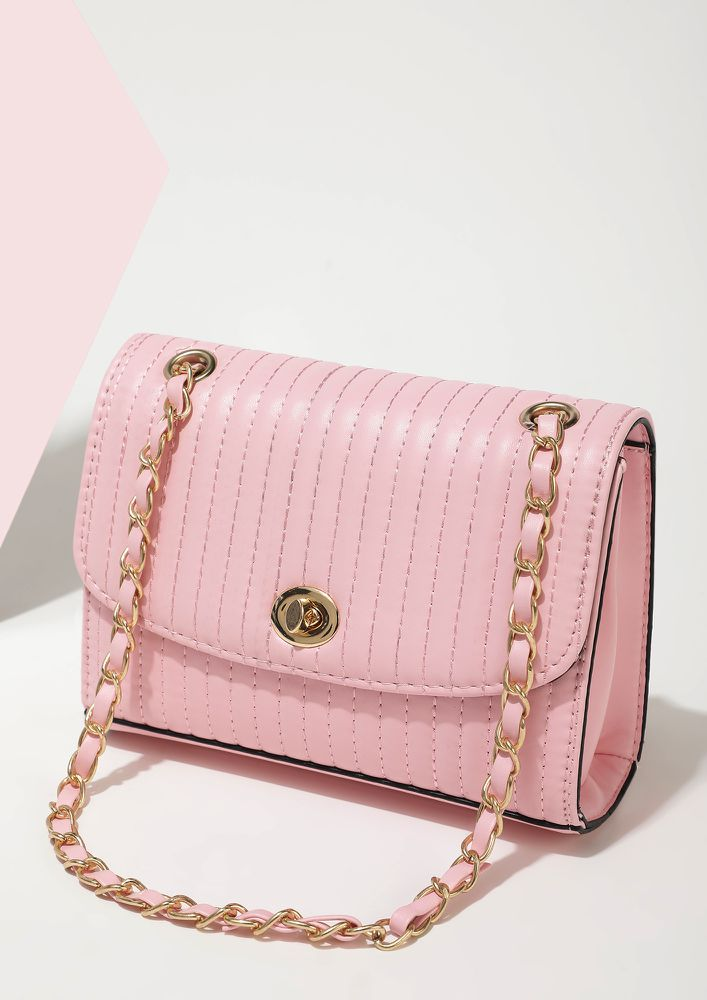 DEAL WITH IT PINK SLING BAG