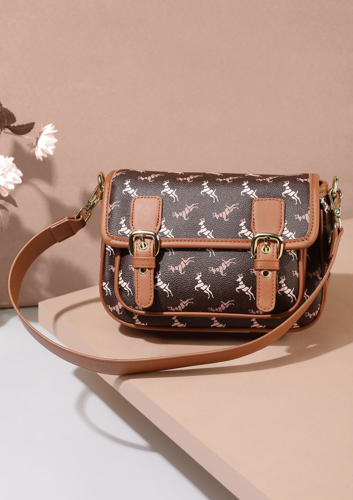ABOUT TIME BROWN SATCHEL