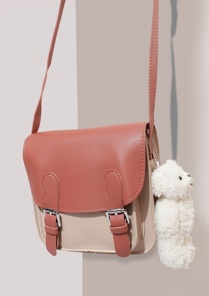 DOUBLE SNITCH BRICK RED SLING BAG